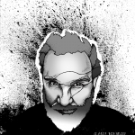 Potrait of Claude vonm Stroke for an illustrated article in Futurepast zine
